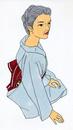 着物を着たシニア女性