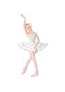 バレエ「白鳥の湖」オデットを踊る女性