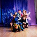 Children wearing costumes