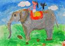 ゾウに乗る人