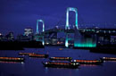 NIGHT VIEW OF TOKYO BAY RAINBOW BRIDGE