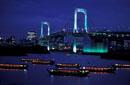 NIGHT VIEW OF TOKYO BAY RAINBOW BRIDGE