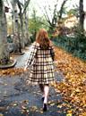 Autumn / fall street scene in New York