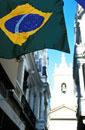 Brazilian Flag in Backstreets
