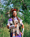 Crow Indian waiting for the Pow wow