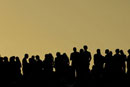 Silhouettes of summer festival