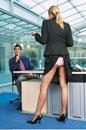 Businesswoman Standing at Businessman