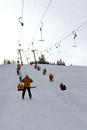 Germany, Oberstaufen, Skilift, Some people enjoy skiing