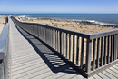Africa, Namibia, Cape Cross, Boardwalk towards Seal colony