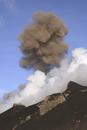 Italy, Stromboli, cloud of ash