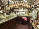 interior of specialty meat and antipasto shop, Modena, Italy