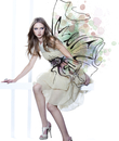 Young Woman Fashion Model Wearing Dress with Embellishment Illustration of Bow