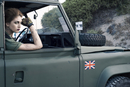 Woman Soldier in Military Vehicle