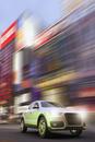 Digitally Generated Image of Luxury SUV in Motion, Tokyo, Japan
