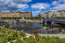 Harbour and waterfront, Ostermalm, Stockholm, Sweden