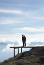 Two Men Standing on Viewing Platform