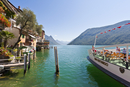 Switzerland, Ticino, People travelling in excursion boat