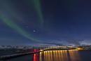 Norway, Province Troms, View of Aurora Borealis near Tromso
