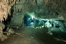 Mexico, Tulum, Cave diver exploring the Sistema Dos Pisos