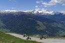 Italy, South Tyrol, Vinschgau, Mountaincarts at the Watles near Mals