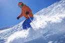 Austria, Salzburg, Obertauern, skier skiing off piste