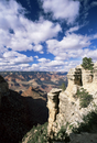 View from the upper section of the Bright Angel Trail, beneath the South Rim, Grand Canyon National Park, UNESCO World Heritage