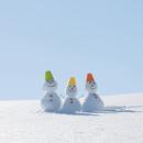 家族の雪だるま