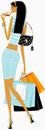 Chic woman carrying shopping bags