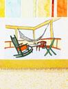 Hammock and patio furniture