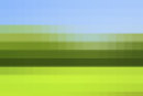 Pixelated view of grassy field