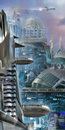 Futuristic cityscape