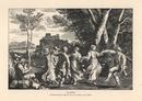 Peasants dancing to bagpipe music.