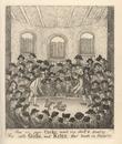 Cockfighting match, 18th century.