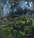 Toledo view by Dominico El Greco, oil on canvas, circa 1598,