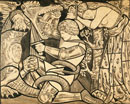 St. George and the Dragon, by Dante Gabriel Rossetti. Engla