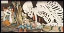 The Witch Takiyashi calling up a monstrous skeleton-spectre