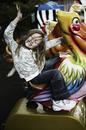 girl riding pelican