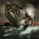 Poseidon/Neptune warrior battling sea monster