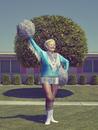 Retiree Cheerleader, Part of the Sun City Poms, from Sun City, Arizona