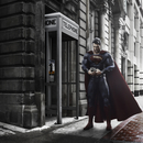 superman opts for a cell phone over the classic phone booth