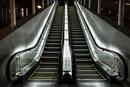 Escalator at night