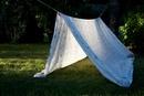 Homemade den made from sheet