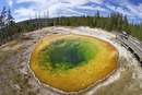 Morning Glory Pool, Upper Geyser Basin, Yellowstone National Park, UNESCO World Heritage Site, Wyoming, United States of America