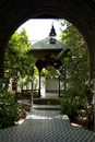 An interior courtyard and pavilion at the Dar Said Museum, Marrakech, Morocco, North Africa, Africa