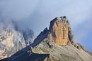The mountain Torre dei Scarperi in the Dolomites, Italy. Jul
