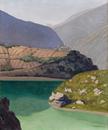 Lake Geronde, Sierre, 1919 (oil on canvas)
