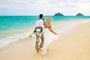 Lanikai Beach,Attractive newlywed cou