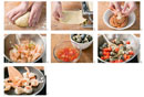 Making pasta alla pugliese (mint pasta with seafood)