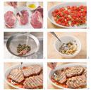 Preparing bistecche alla palermitana (steak with capers)