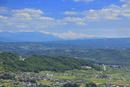 砥石城跡から望む富士山と奥秩父山塊などの山並み